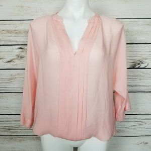 Joie Peach Silk Blouse NWT Large